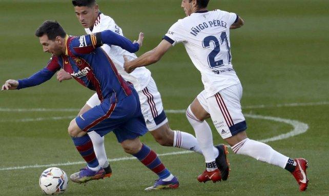 Lionel Messi face à Osasuna