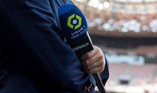 Le micro de Canal + pour les matches de Ligue 1