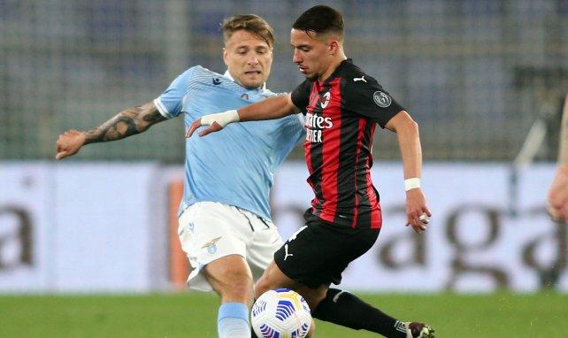 La Lazio et Milan s'affrontaient