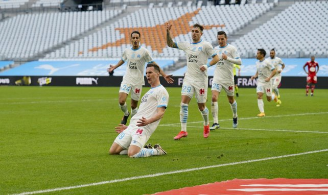 Arkadiusz Milik après son but contre Brest
