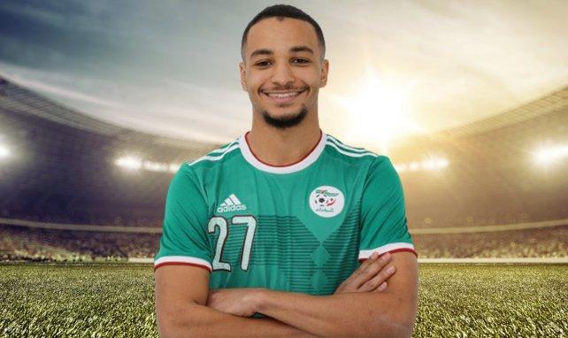 Hussayn Touati avec le maillot de l'Algérie