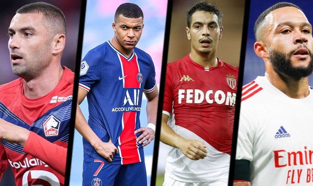 Yilmaz (Lille OSC), Mbappé (PSG), Ben Yedder (AS Monaco) et Depay (OL)