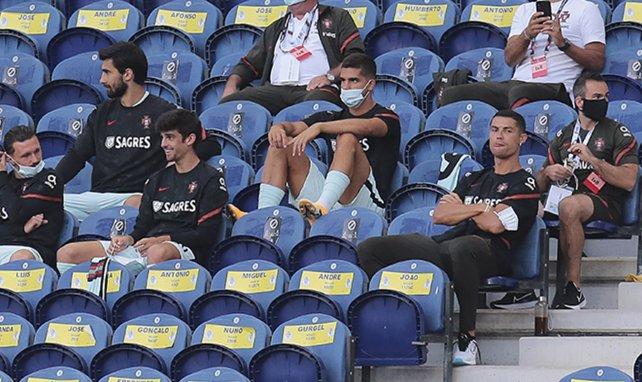 Cristiano Ronaldo dans les tribunes