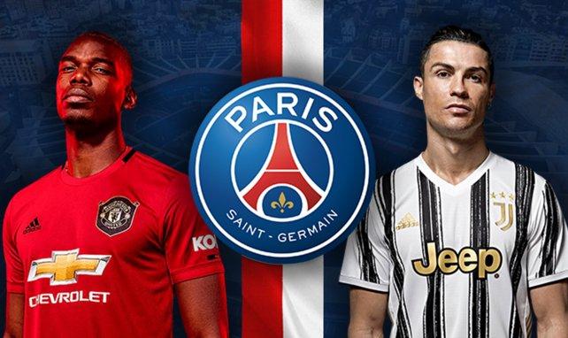 Paul Pogba (Manchester United) et Cristiano Ronaldo (Juventus) sur la liste du PSG