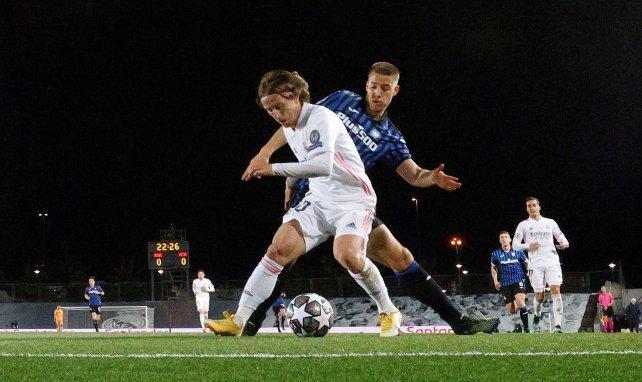 Luka Modric face à l'Atalanta