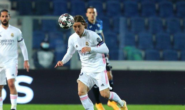Luka Modric en action avec le Real Madrid