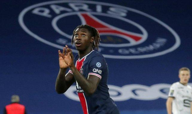 Moise Kean célèbre son but contre Rennes