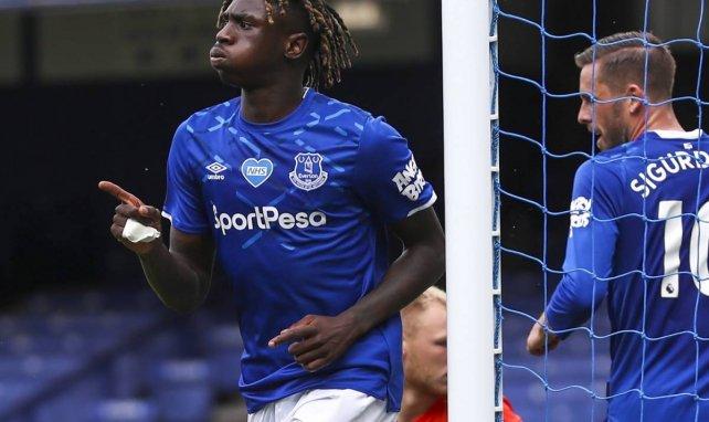 Moise Kean célèbre ici un but avec Everton