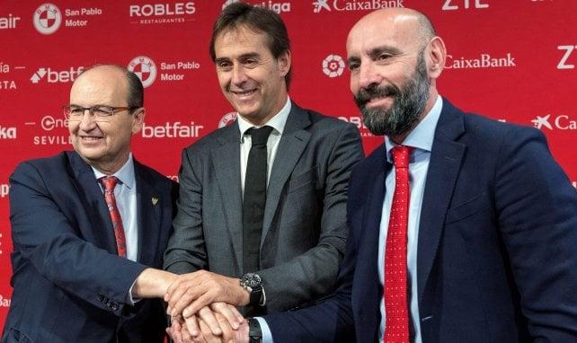 José Castro, Julen Lopetegui et Monchi