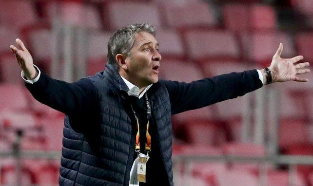 Philippe Montanier lorsqu'il entraînait le Standard de Liège