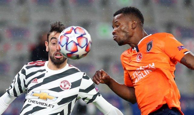 Bruno Fernandes lors du match entre MU et Istanbul Basaksehir