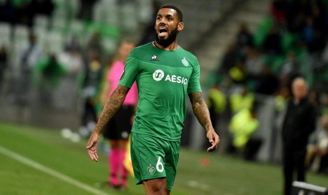 Yann M'Vila avec les Verts en Ligue Europa