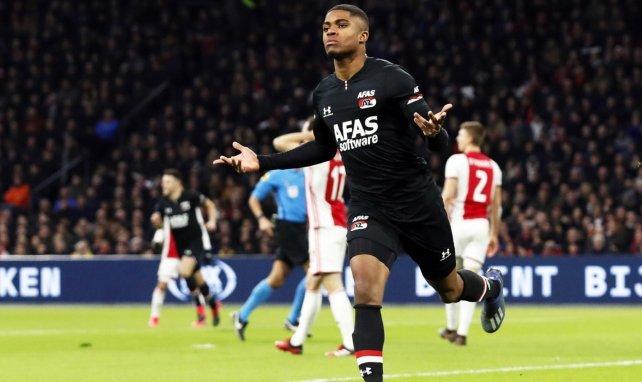 Myron Boadu, l'attaquant de l'AZ Alkmaar