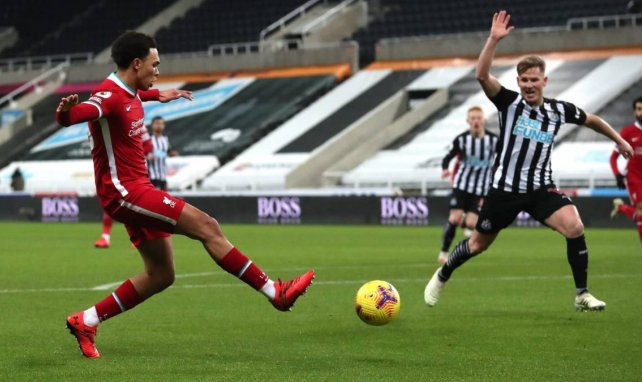 Trent Alexander-Arnold lors d'un match de Liverpool contre Newcastle