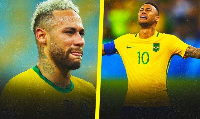 Neymar a connu des moments difficiles avec le Brésil