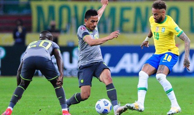 Neymar sous le maillot du Brésil