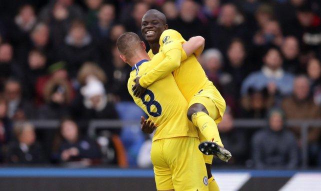 N'Golo Kanté célèbre un but avec Chelsea