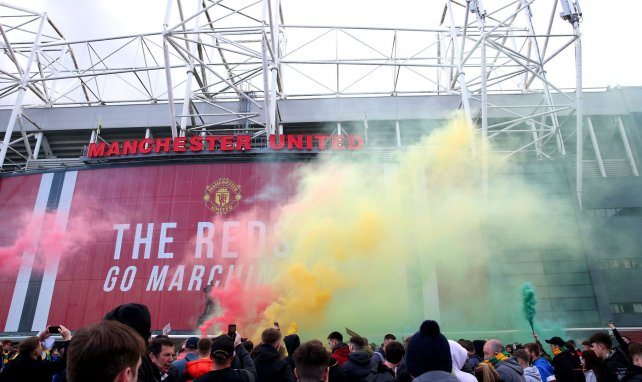 Les supporters ont manifesté devant Old Trafford