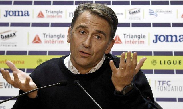 Olivier Sadran, le président de Toulouse, lors d'une conférence de presse