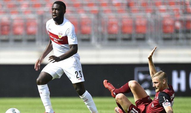 Orel Mangala lors de la rencontre entre le FC Nuremberg et le VfB Stuttgart