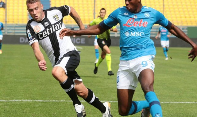 Victor Osimhen lors de la rencontre entre Naples et Parme