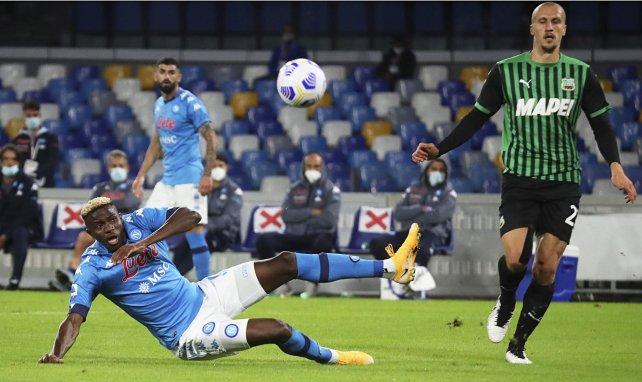 Victor Osimhen face à Sassuolo
