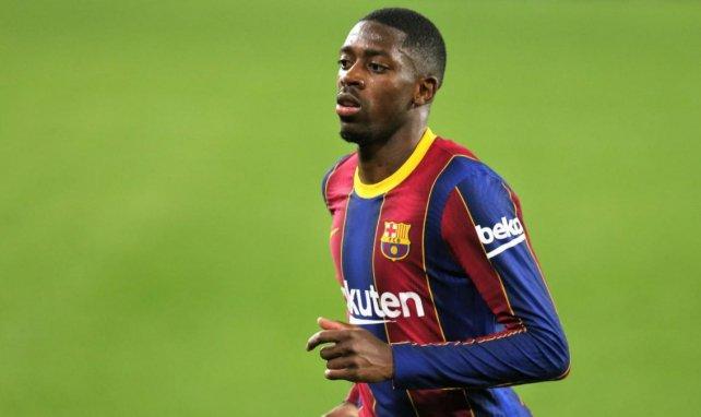 Ousmane Dembélé lors de la rencontre du Barça contre Séville en Coupe du Roi