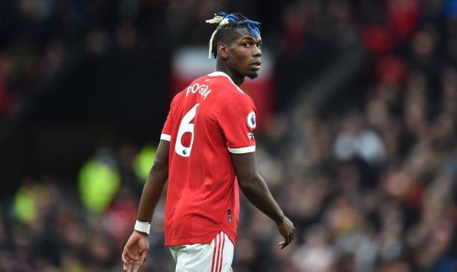 Paul Pogba pendant le match face à Everton
