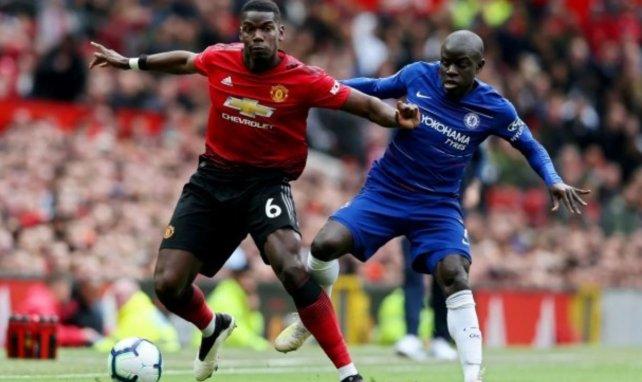 Paul Pogba et N'Golo Kanté au duel avec MU et Chelsea