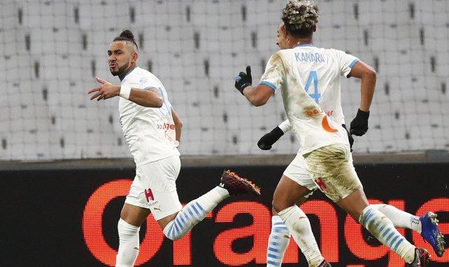 Dimitri Payet célèbre son but contre Montpellier en Ligue 1