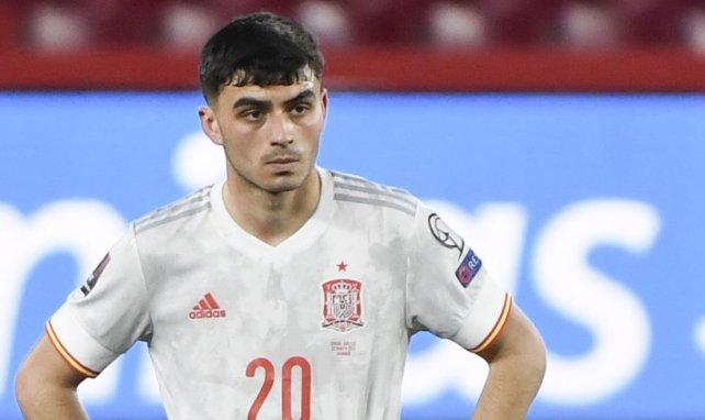 Pedri lors du match de l'Espagne face à la Grèce