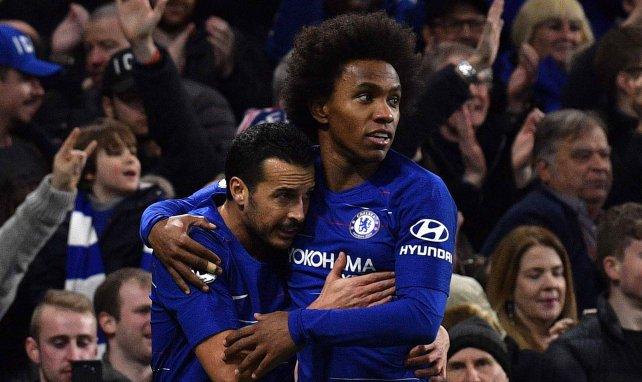 Pedro et Willian avec Chelsea