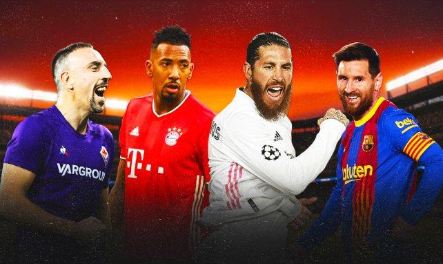 Ribéry, Boateng, Ramos et Messi sont tous sans contrat pour le moment