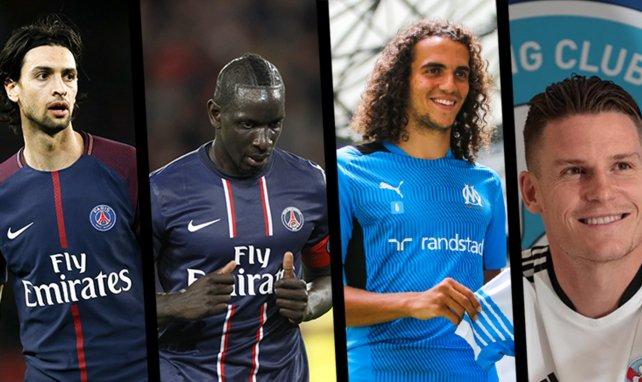 Javier Pastore, Mamadou Sakho, Mattéo Guendouzi et Kevin Gameiro.