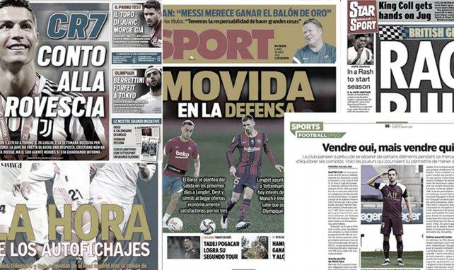 l'Italie s'enflamme pour l'avenir de Cristiano Ronaldo, le chantier du FC Barcelone en défense