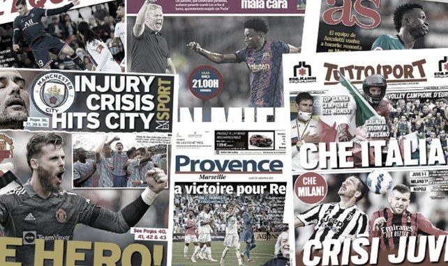 La presse madrilène s'enflamme pour le duo Benzema-Vinicius, le héros David De Gea met fin à une incroyable série avec Manchester United