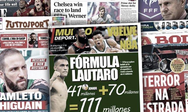 L'attaque du bus de Benfica choque le Portugal, la technique du Barça pour ne pas payer la clause de Lautaro Martinez