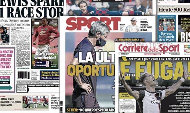 Le FC Barcelone dos au mur en Liga, l'Italie s'incline devant la Juve et Ronaldo