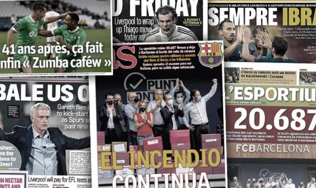 Les malheurs du Barça font beaucoup de bruit en Espagne, Tottenham attend Gareth Bale comme le sauveur