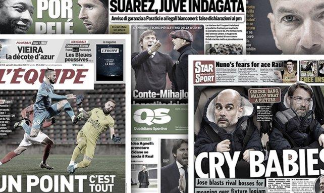 L'Angleterre tourne en dérision Jürgen Klopp et Pep Guardiola, la menace Zidane plane au-dessus de Pirlo