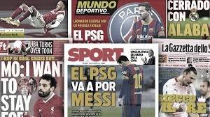 Les déclarations de Leonardo sur Messi font trembler l'Espagne, la sortie de Salah sur son avenir à Liverpool fait sensation