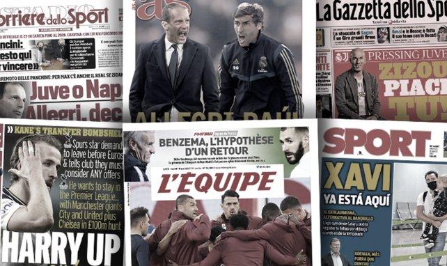 Duel au sommet pour la succession de Zidane au Real Madrid, l'annonce du départ d'Harry Kane enflamme l'Angleterre