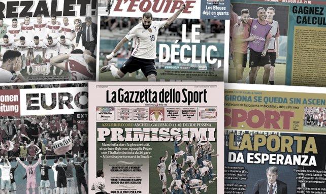 La presse turque cartonne sa sélection, l'Italie impressionne l'Europe entière