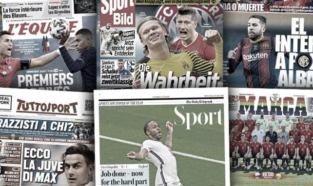 Le duel Cristiano Ronaldo-Kylian Mbappé enflamme la presse européenne... et le mercato