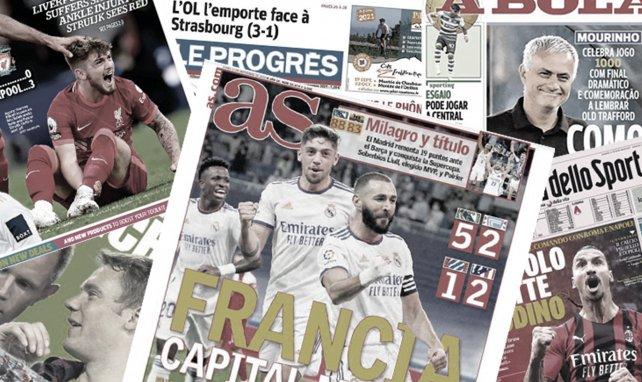La presse catalane lance l'opération revanche face au Bayern Munich, les Français régalent pour le retour du Real Madrid au Bernabeu