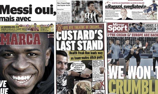 L'Angleterre se régale du régime imposé par Cristiano Ronaldo à MU, la Juventus en pleine panique