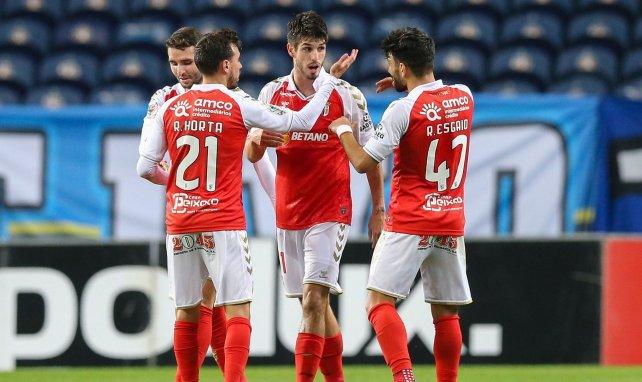 Lucas Piazón avec ses partenaires à Braga