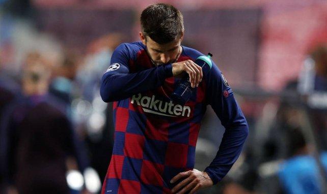 Gerard Piqué pendant la rencontre face au Bayern