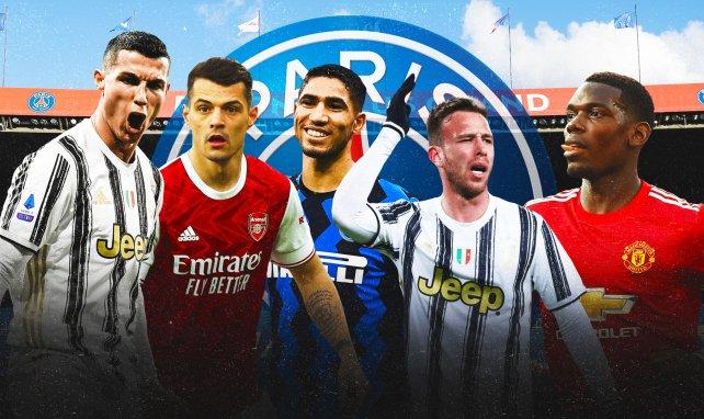 Cristiano Ronaldo, Paul Pogba ou encore Granit Xhaka sont sur la liste du PSG cet été