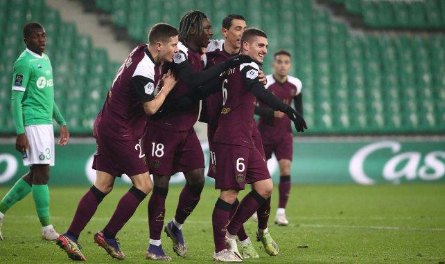 Le groupe du PSG face à Montpellier